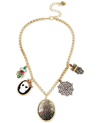 Betsey Johnson Jewelry Halloween Skeleton Cameo Necklace