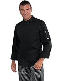 Isacco - Veste Cuisinier Bilbao Noir Polycoton