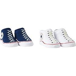 Converse 2 Pack Booties, Calcetines para Bebés, Azul (Navy), 0/6 Meses (Talla del Fabricante: 0-6M)