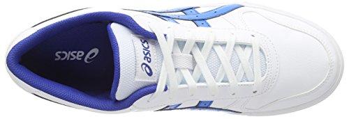 Asics Aaron, Unisex-Erwachsene Sneakers Weiß (white/blue Aster 0147)