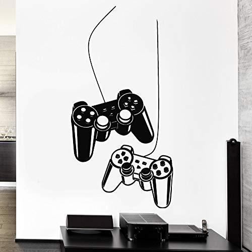 Jungen Wandaufkleber Dekoration Spiel Gaming Controller Decals Vinyl Wandtattoos für Kinder spielzimmer Schlafzimmer klebstoff 1 42x77 cm (Kinder-spielzimmer Decals)