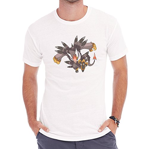 Digimon Biyomon Birdramon Garudamon Grey Herren T-Shirt Weiß