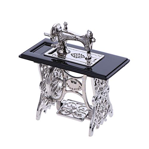 KESOTO Modelo de Máquina de Coser Miniatura Vintage para 1/12 Decoración de Muebles Casa de Muñecas