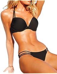 VogueEasy Sexy Trikini Maillot de Bain Femme Bikini 2 pièces push up Beach