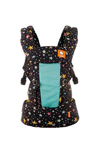 Tula Explore Coast TBCP6R53 Rainbow Stars - Portabebés ergonómico y ajustable con posición frontal hacia fuera diseñado para crecer con tu bebé de 3,2 a 20,4 kg sin necesidad de un cojín bebé