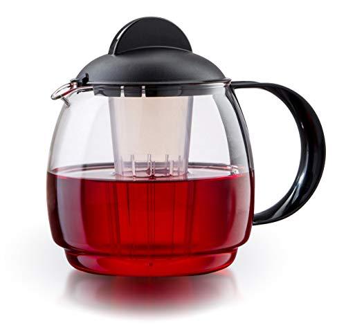 Boral Glas Teekanne Mikrowellenkanne 1,8L mit Teesieb - Teekanne Eine