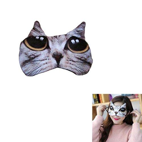 EQLEF® Maschera Ragazze occhio di gatto a forma di Ufficio di copertura degli occhi per dormire
