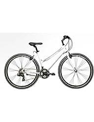 'Bicicleta Híbrida Cicli Adriatica Boxter Fy de mujer con marco de aluminio, ruedas de 28, Shimano 21 velocidades, Bianco