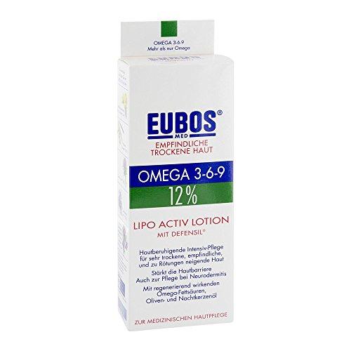 Dr.Hobein Nachf. EUBOS Omega 3-6-9 Lotion peaux sensibles lipo active 12% 200 ml