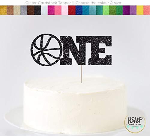 (Basketball One Cake Topper Basketball First Birthday Basketball Birthday Dekoration Basketball Kuchen Smash Basketball 1. Geburtstag)