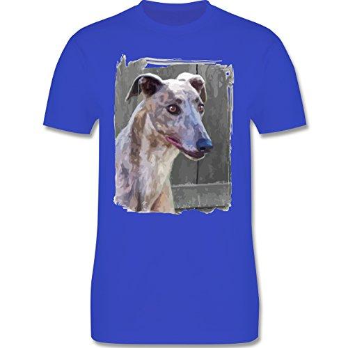 Hunde - Windhund - Herren Premium T-Shirt Royalblau