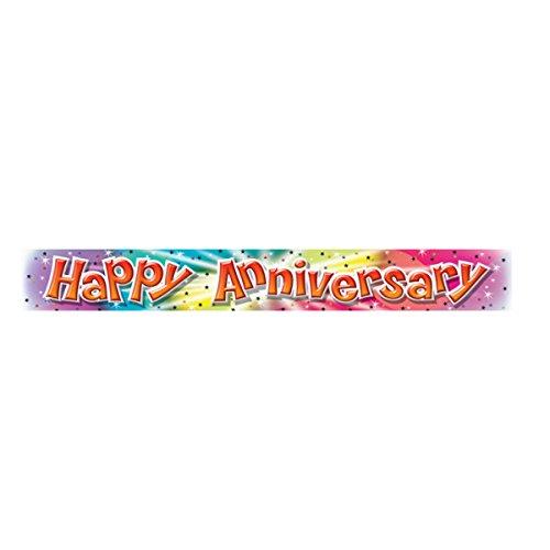 Amscan International Folienbanner Happy Anniversary