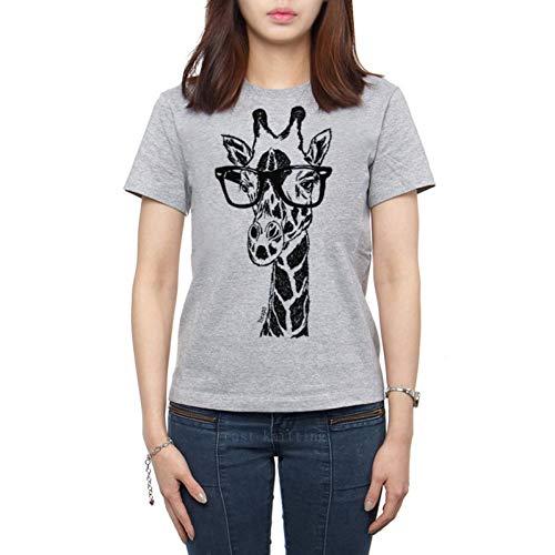 LIULINUIJ Hot FrauenHipster GiraffePrint T-Shirt Mädchen Lustige Kurzarmshirts -