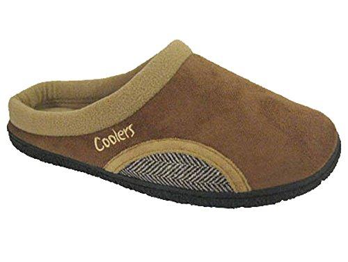 Coolers Mens Clog Microsuede Slipper Mules Skin Tones