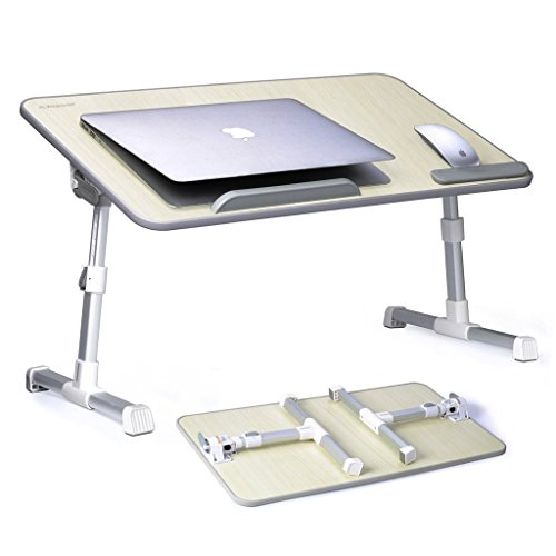 Avantree Adjustable Laptop Bed Table (Large Size), Portable Standing Desk, Foldable Sofa Breakfast Tray, Notebook Stand Reading Holder for Couch Floor Kids - TB101L Test
