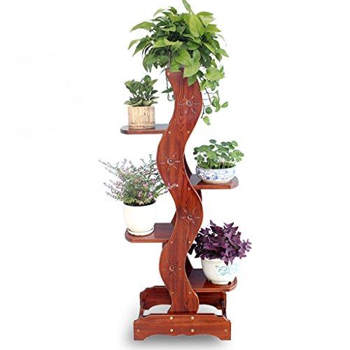 WSSF- Support de fleur en bois massif multicouche étage balcon fleur Pot étagère solide bois vert Radis fleur étagères étagères salon Chlorophytum fleur présentoir, 50 * 32 * 136 cm