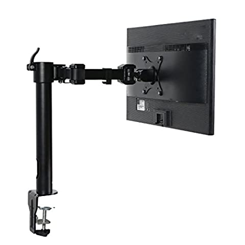 ThingyClub Heavy Duty Fully Adjustable Single Arm LCD LED Monitor Desk Mount Stand Bracket for 10