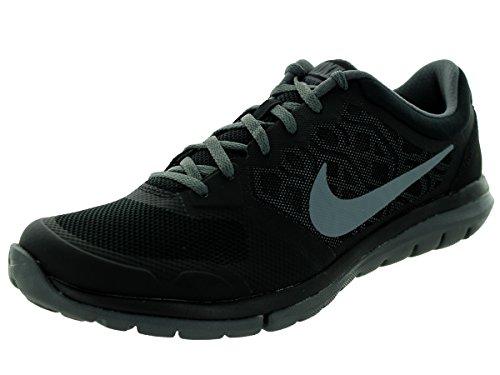 Nike Flex Run 2015, Chaussures de Running Compétition Homme BLACK/COOL GREY-DARK GREY