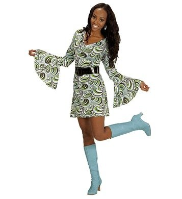 NEU Damen-Kostüm Kleid Groovy, Waves, Gr. (Siebziger Kostüm Jahre Party)