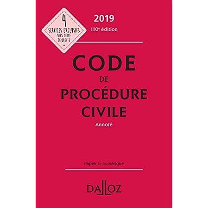 Code de procédure civile 2019, annoté (Codes Dalloz Universitaires et Professionnels)