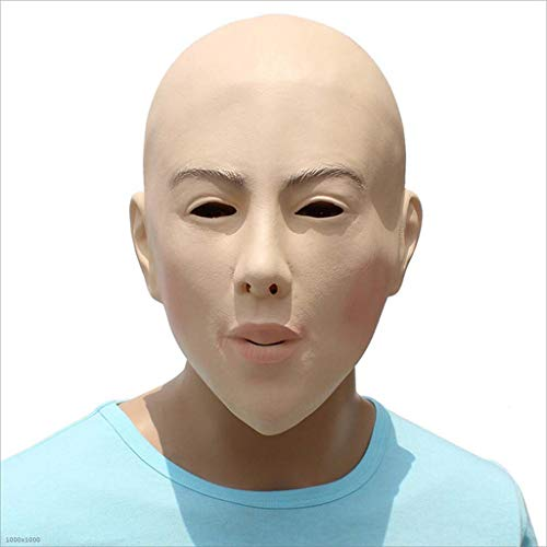 XRFHZT Halloween Horror Silikon DIY Maskerade Requisiten Bald Beauty-Maske Spielt Gesichtsmaske