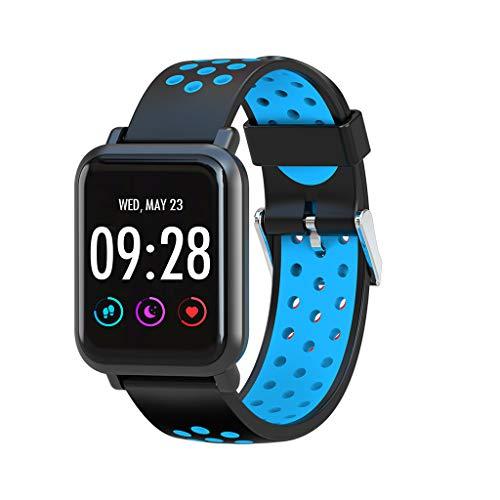 Smart Watch mit Fernkamera Damen Herren Y1hr Armbanduhr Bluetooth Blutsauerstoff Blutdruck Pulsmesser Schlafmonitor Schrittzaehler Sport Watch Wasserdicht Watch für Android iOS (F)