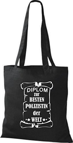 Diploma Di Stoffa Di Stoffa Per La Migliore Poliziotta Del Mondo Nero