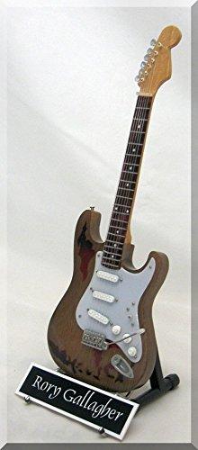 RORY GALLAGHER Miniatur Gitarre mit Namensschild