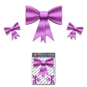 Bogen Krawatten Rosa Kleine Pack Mädchen Vinyl Auto Aufkleber - ST00027PK_SML - JAS Aufkleber