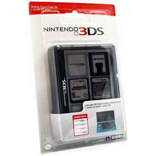 Hori - Game Card Case 24, Color Negro (Nintendo 3DS)