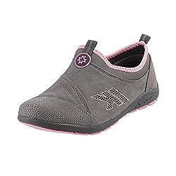 METRO Women GREY Synthetic Walking Shoes ( SIZE ) EURO39/UK6