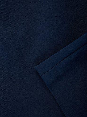 oodji Collection Damen Gerader Rock mit Hohem Bund Blau (7400N)