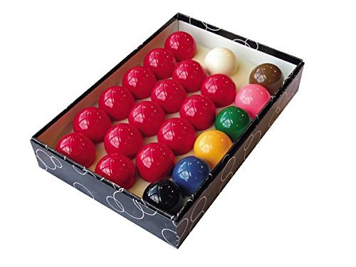 Trade Full Size Snooker Ball Set (2 1/40,6 cm) mit 6 Grün Triangle Kreide (Snooker-set)