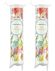 Prima Donna Round Cotton Pads, Pack of 2 (200 Piece)