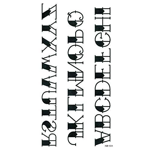 lihaohao Kleine Volle Arm wasserdichte Tätowierung Aufkleber Symbol Totem Tier Text Bequem Und Praktisch Männer Und Frauen Temporäre Tätowierung Aufkleber 21X11.4Cm 4Pc