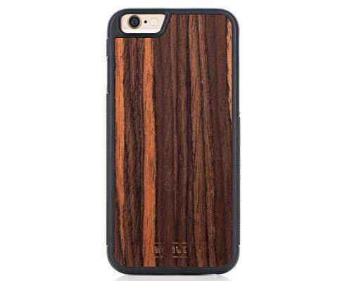 WoodWe iPhone Hülle aus Naturholz für iPhone 6/6S, schlankes und handgefertigtes Design, strapazierfähiger Schutz, Ebenholz