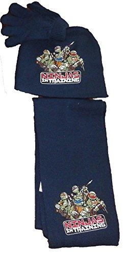 Teenage Mutant Ninja Turtles Winterset Schal, Mütze und Handschuhe mit Print...