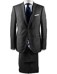 Barutti - Tailored Fit - Herren Baukasten-Anzug aus reiner Super 120'S Schurwolle, Meliert, 900 8005 (Tarso AMF/Tosco)