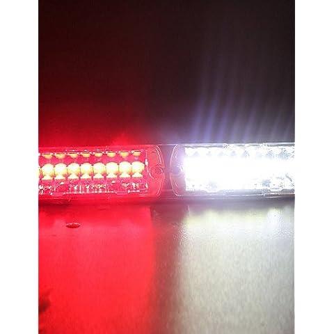 WEIAN luci Car 16-led Rosso Bianco Attenzione Strobe Flash Light 1pcs