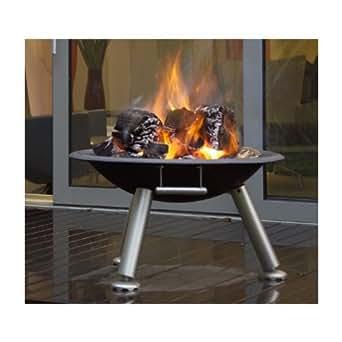 Brasero barbecue design Terrasse Brazier Couleur Noir Matière Inox