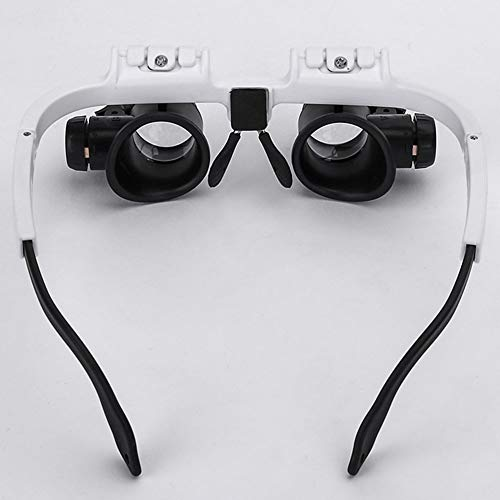 Uhrenreparatur-Lupe, Doppel-Augen-Brille, Juwelier-Uhr-Reparatur mit LED-Licht für mechanische Verarbeitung, Schmuck-Bewertung, Uhr-Reparatur Free Size 175 * 155 * 55 mm