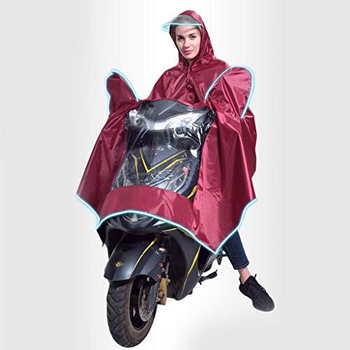 Poncho Elettrico per Auto, Chshe TM, Poncho per Moto Elettrico Poncho Poliestere Pvc Night Light Hood Poncho Raincoa(Anguria Rossa)