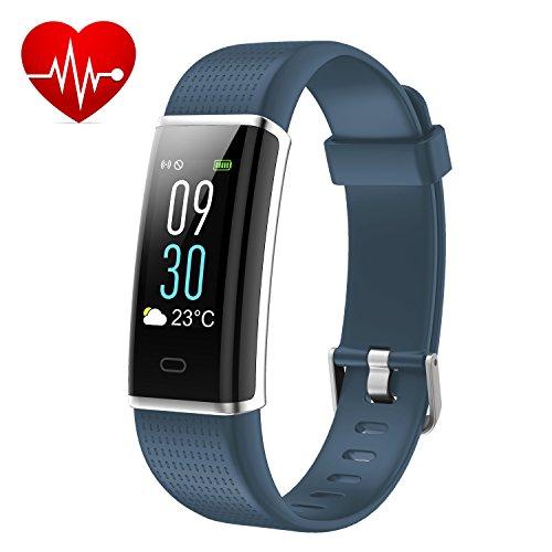 Kinbom Fitness Armband, Pulsuhren Farbbildschirm Fitness Tracker mit SchlafMonitor Armbanduhr, Schrittzähler, Kalorienzähler, IP68 Wasserdicht Aktivitätstracker Smart Uhr für Android&iOS Smartphones