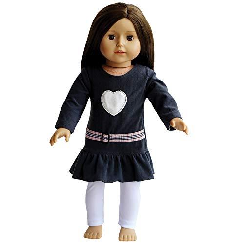 The New York Doll Collection- Vestido Gris y Leggings Ropa muñecas de 45 cm (10325064)