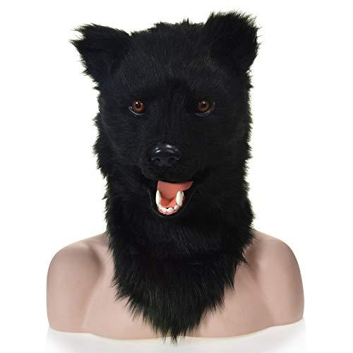 Kostüm Cat Bear - HHHUHHUA-LK Handgemachte Black Bear Moving Mouth Kunstpelz Kostüm Maske-Scary Animal Mask (Color : Black)