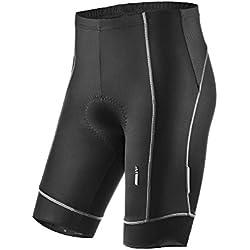Lameda Pantalones Ciclismo, Pantalones Cortos de Ciclismo Culotte Ciclismo para Hombre, Color Gris, Talla S