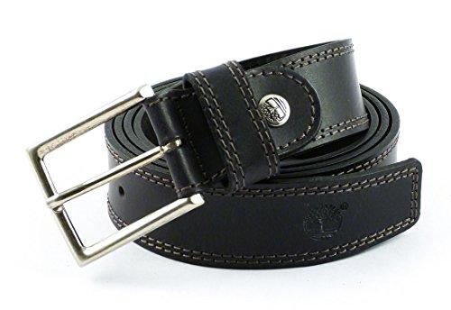 Cintura in pelle Timberland M4304 (Nero, M (115 cm) accorciabile)