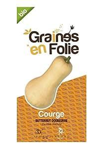 Graines en Folie Semences bio Courge Butternut Doubeurre 2 g de graines