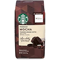STARBUCKS GROUND MOCHA FLAVORED COFFEE 11 oz. (1 Pack)