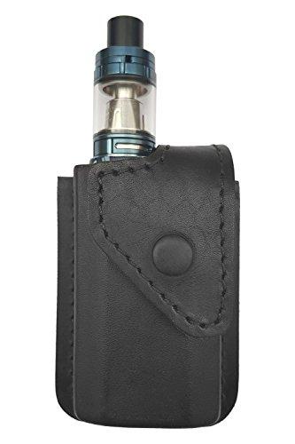 VlaMiTex i2 Gürteltasche für Smok Alien 220w / eVic-VTC Mini/Cubis Pro Full Kit Echt-Leder Schwarz -